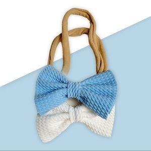 Small Bow Bow Headband / 2 piece